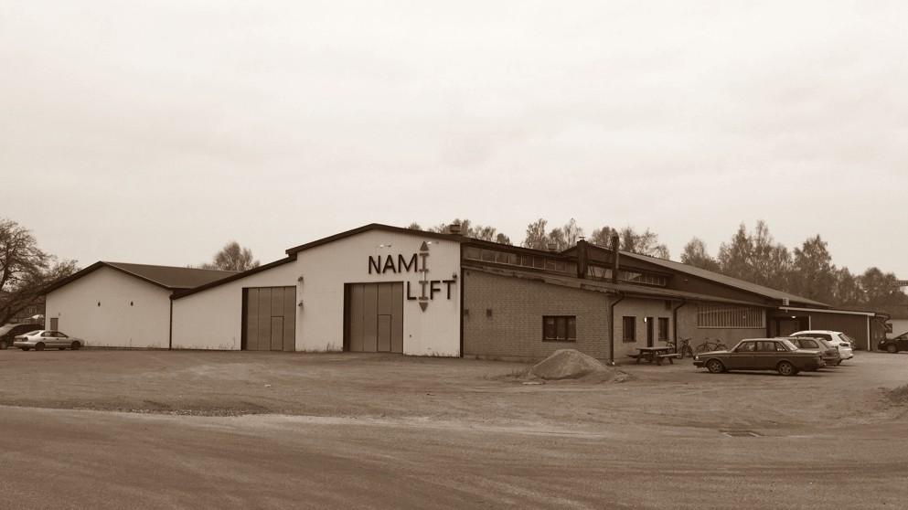 Usine d'élévateurs verticaux Nami-Lift à Tollarp (Suède)