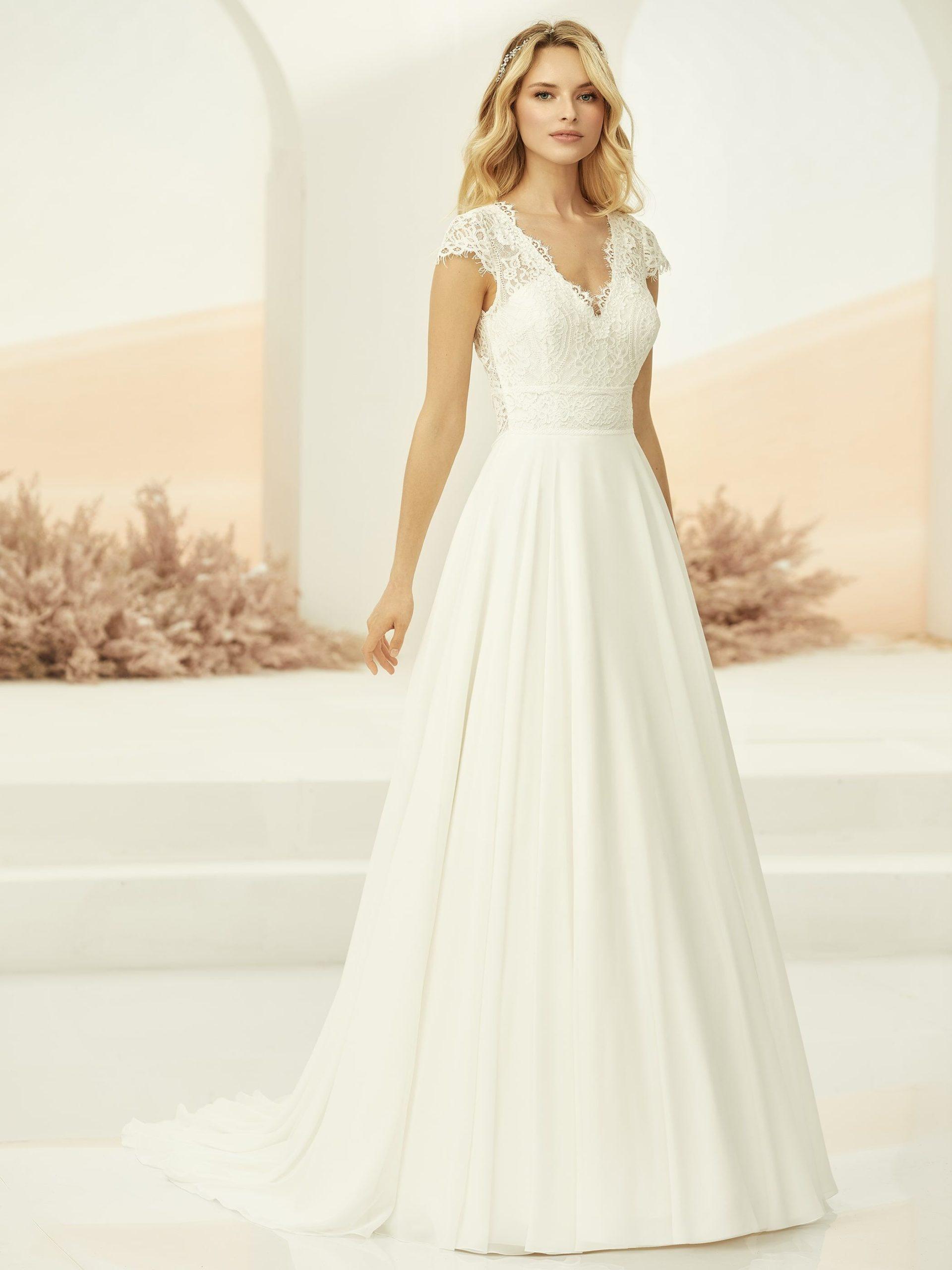 Robe de mariée bohème bianco evento