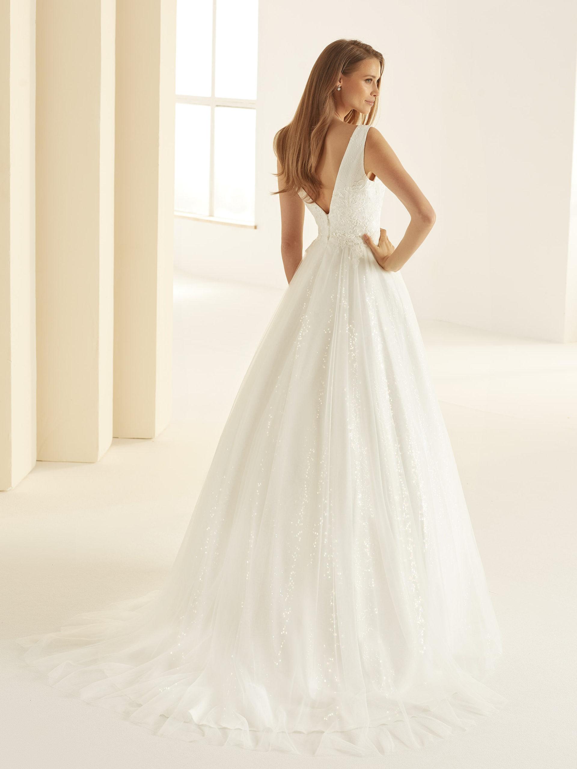 Robe de mariée paillette bianco evento